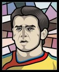 Caricaturi fotbalisti Euro 2008 - Cristian Chivu - Euro 2008